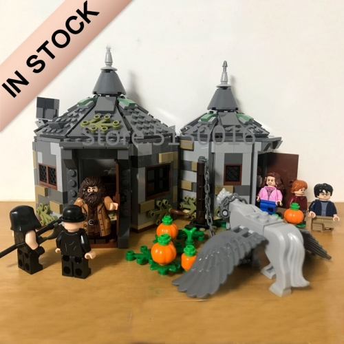 Harry Potter Series Hagrid's Hut Buckbeak's Rescue 496Pcs Building Blocks Bricks Toys Lego Compatible 11343 75947