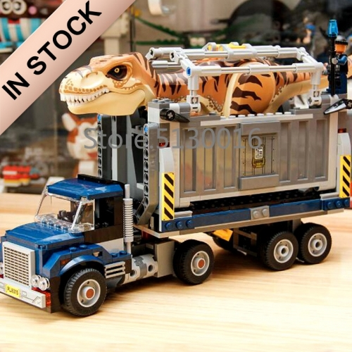 Jurassic World Series T.Rex Transport 609PCS Building Blocks Bricks Toys Lego Compatible 39116 10927 75933