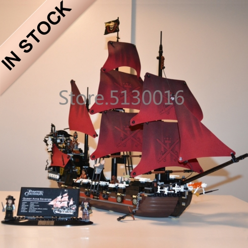 Pirates of the Caribbean Series Queen Anne's Reveage Ship 1097Pcs Building Blocks Bricks Toys 4195 39008 6001 19002 83009 16009 Ship From Europe USA