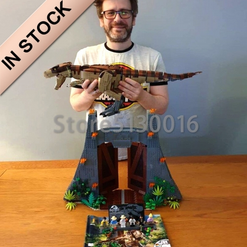 Jurassic World Series Jurassic Park: T. rex Rampage 3508PCS Building blocks bricks Toys  Lego compatible 75936 82200  11338 61001 SY1406 928005