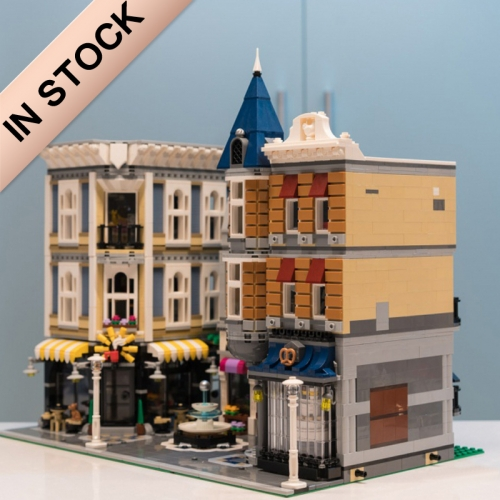 Creator Expert Street View Assembly Square 4122Pcs Moc Model Modular Building Blocks Bricks Toys 10255 15019 30019 LJ99007