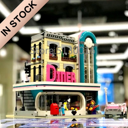 Creator Expert Downtown Diner 2480Pcs building blocks bricks toys 10260 15037 ship from Europe Canada USA
