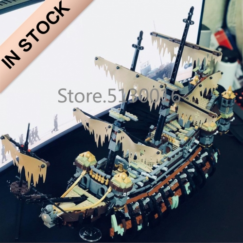 Pirates of the Caribbean Silent Mary 2370Pcs building blocks bricks toys 16042 71042 51120 180049 180141 Ship From  USA