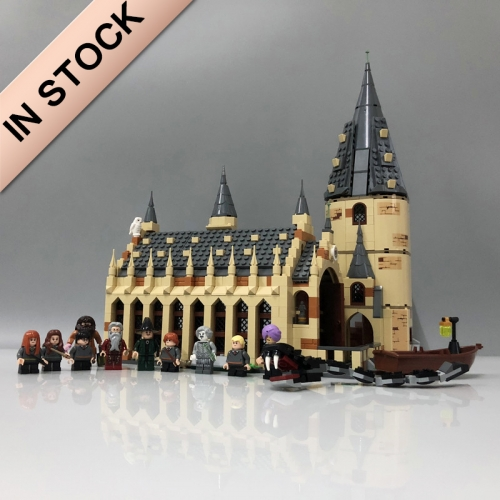 Harry Potter Hogwarts Great Hall 878Pcs Moc Model Modular Building Blocks Bricks Toys 75954 16052 39144 1205 11007  83030 180052 69503
