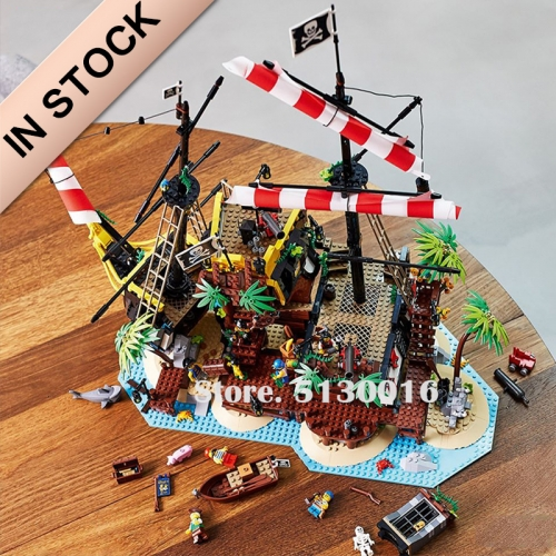 Pirates of the Caribbean Pirates of Barracuda Bay 2545 PCS building blocks bricks toys 21322 698998 49016 Ship From Canada Ship From Europe