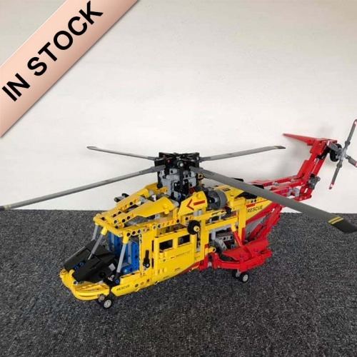 Technic Rescue Helicopter 1056Pcs Moc Model Modular Building Blocks Bricks Toys 9396 3357