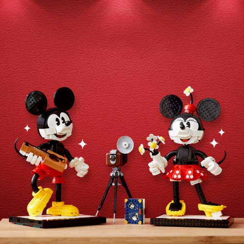 Ideas 43179 81995 Mickey Mouse & Minnie Mouse  Rotating With Building Blocks Bricks Toys Gift 1739PCS