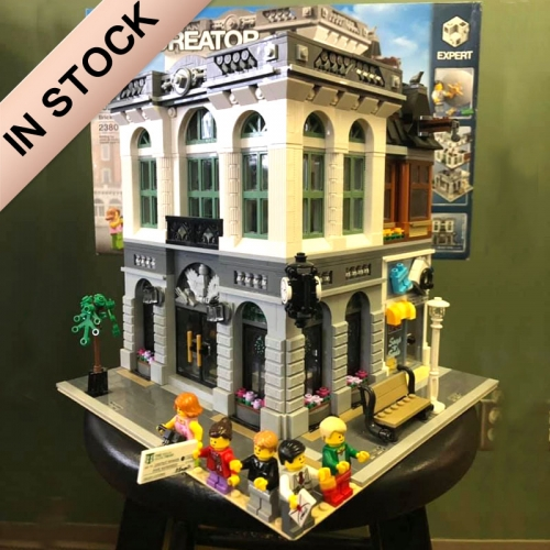 Creator Expert Series Street View Brick Bank Brick Bench 2413Pcs Building Blocks Bricks Toys Lego Compatible 15001 84001 180057 53001 10251 Ship From