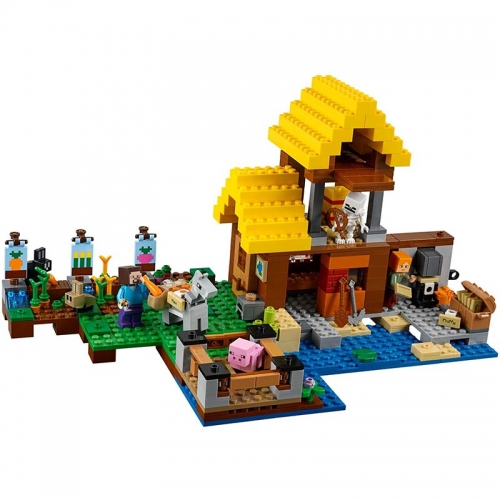 My World Minecraft sx1007 The Farm Cottage 432Pcs Model Building Blocks Toys  Bricks Toys  21144 840 18039  SY991 10813  81053