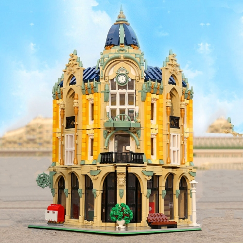 In Stock Corner Post Office 16010 Mould King 4030Pcs Building Blocks Bricks Street Views Toys Creator Expert