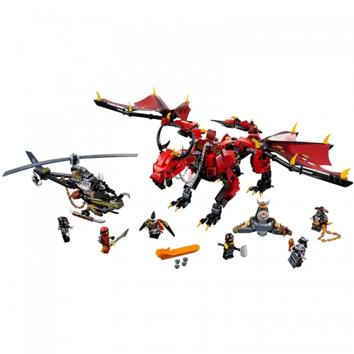 Ninjago Series Firstbourne 882Pcs Building Blocks Bricks Toys Compatible 1058 180092 89064 10938 1128 31164 31152 06081 70653