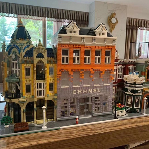 IN Stock City Street View C HANEL AMSTERDAM Model MOC 16021 Building Block 3700pcs Bricks Kids Toys Gifts