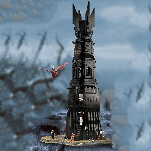 Hobitit Lord Of Rings UCS Pinnacle of Orthanc 4059Pcs 112501 Moc Model Modular Building Blocks Bricks Toys