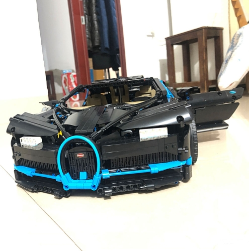 Technic Black Bugatt Chiron Super Racing Car 3600Pcs Moc Model Modular Building Blocks Bricks Toys 20086 7950 42083 20678
