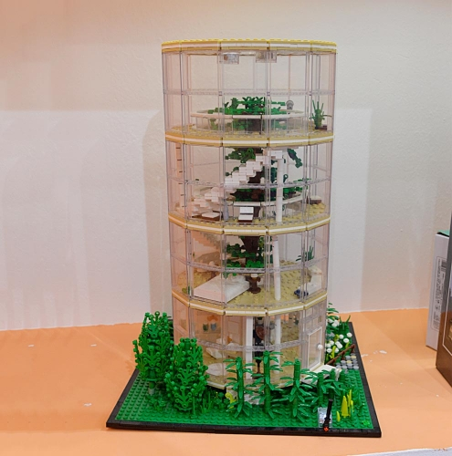 Ideas Street View Forest Villa A Tree in the House 3495Pcs Moc Model Modular Building Blocks Bricks Toys 85016
