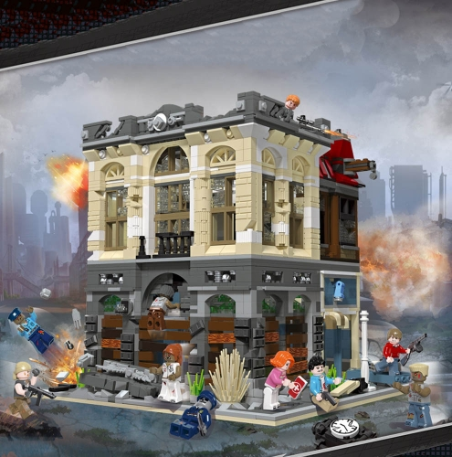 Creator Expert Street View Dooms Day Bricks Bank Zombie 2836Pcs 89102 Moc Model Modular Building Blocks Bricks 10251