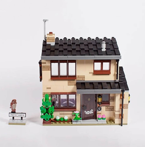 Harry Potter 4 Privet Drive And Flying Car 797Pcs Moc Model Modular Building Blocks Bricks Toys 80002 75968